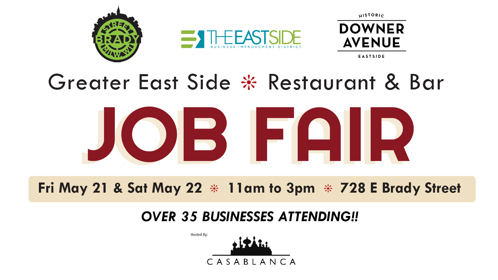 30 bars, restaurants join forces to hold east side job fair