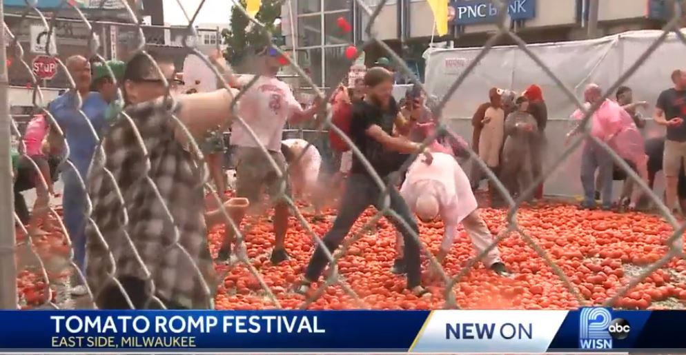 Tomatoes fly on Milwaukee's east side