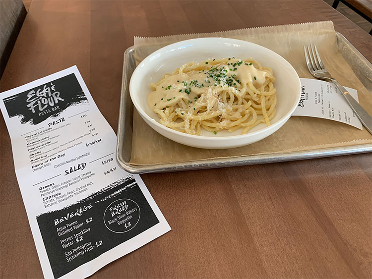 Egg & Flour Pasta Bar is open at Crossroads Collective and it's good