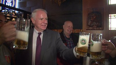 Keg tapping ceremony marked grand reopening of Von Trier — under new ownership
