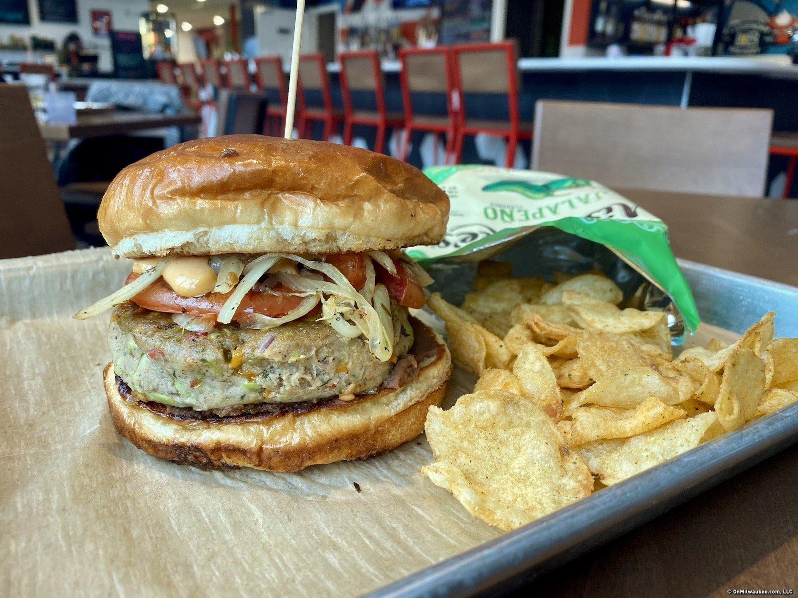 On the (Veggie) Burger Trail: The Edamame Burger at Frida
